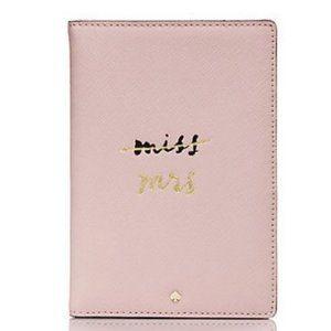 kate spade wedding belles pink mrs passport nwt